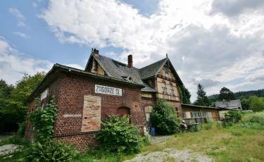 Dworzec kolejowy w Zagórzu Śląskim (Fot. krystian)