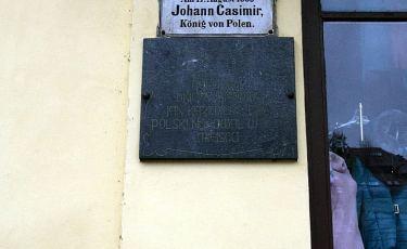 Pamiątkowe tablice króla Polski Jana Kazimierza (Fot. mateo)