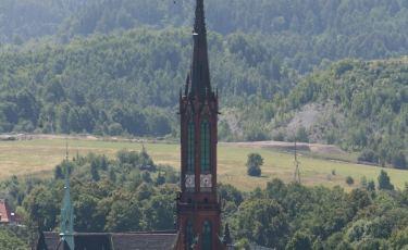 Widok z Harcówki na Kościół św. Aniołów Stróżów (Fot. krystian)