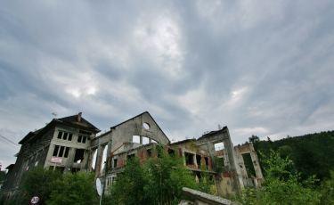 Ruiny elektrowni przy kopalni Wacław (Fot. krystian)