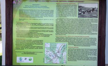 """Ściezka przyrodnicza  """"Szlak Natura 2000 Góry Kamienne - zachowaj bioróżnorodność"""" (Fot. aga)"""